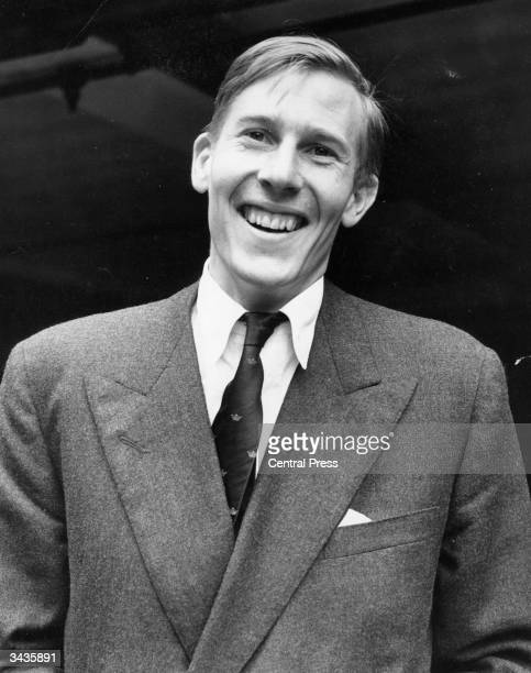 British athlete Roger Bannister the day after achieving the 'four minute mile' He was knighted after a distinguished medical career