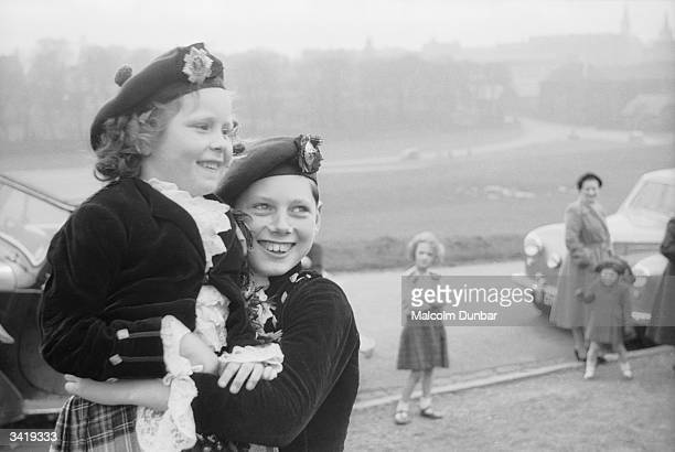 Two young girls learning Highland dance with teacher Jean Reynolds prepare for a display of Scottish dancing in traditional dress There is debate as...
