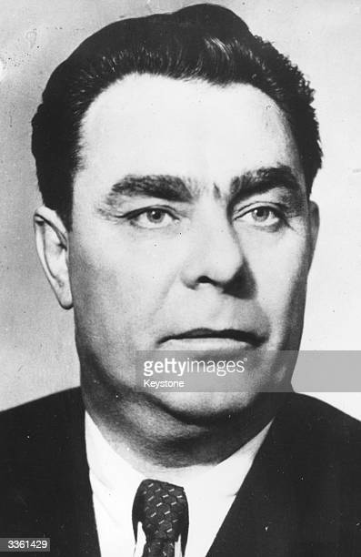 General Secretary of the Soviet Communist Party Leonid Brezhnev upon his appointment as President of the Presidium of the Supreme Soviet replacing...