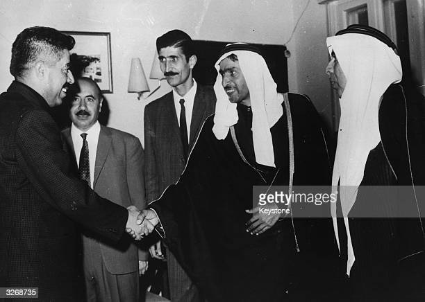 Jordanian Prime Minister Wasfi Tell seen meeting tribal chiefs in Amman following the forming of his new government