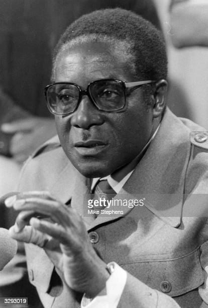Guerilla leader Robert Mugabe in London for the British convened Zimbabwe/Rhodesia Constitutional talks