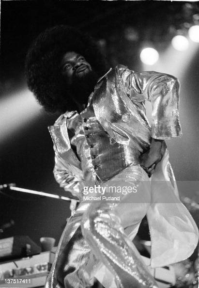 American musician Billy Preston performs on stage supporting the Rolling Stones at Wembley Empire Pool London September 1973