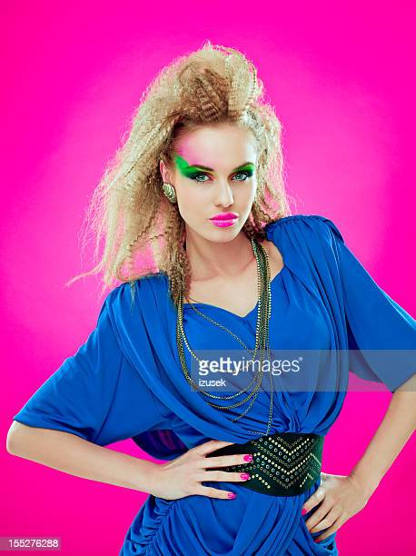 80s style beautiful diva