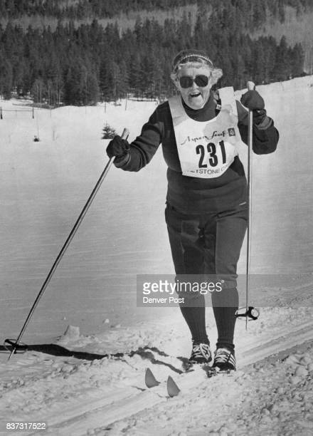 Year Old Skier a Real Winner in Keystone Caper Eightyyearold Ragna Dahl of Denver crosses finish line after twoplus hours of cross country...