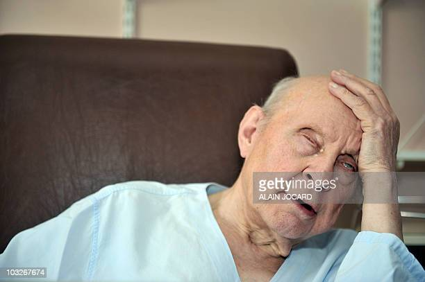 80yearold Frenchman Francois Deweille answers journalists' questions on August 2 2010 at the Chateaudun hospital southwest of Paris Francois Deweille...