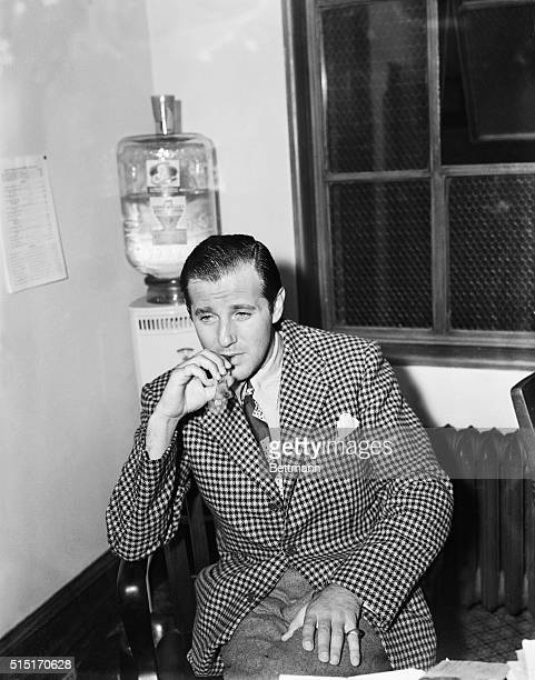 8/17/1940Los Angeles CA Benny Siegel Hollywood night life figure is shown after being taken from his luxurious Holmby Hills home for questioning in...