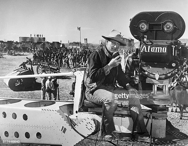 8/1960John Wayne is shown as he directs during the filming of 'The Alamo'