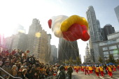 81st ANNUAL MACY'S THANKSGIVING DAY PARADE Pictured The Hello Kitty balloon at the 81st Annual Macy's Thanksgiving Day Parade broadcast live on NBC...