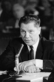 8/20/1957Washington DC Teamster VicePresident James R Hoffa testified before the Senate Labor Rackets Committee today that his wife shared a...