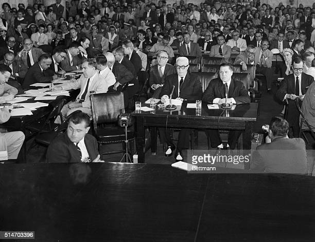 8/20/1957Washington DC View in the crowded Caucus room in the Senate Office Building today as James R Hoffa began his testimony before the Senate...