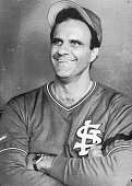 8/2/1990Philadelphia Pennsylvania Joe Torre the new manager for the St Louis Cards smiles during a pregame interview Torre signed a contract to...