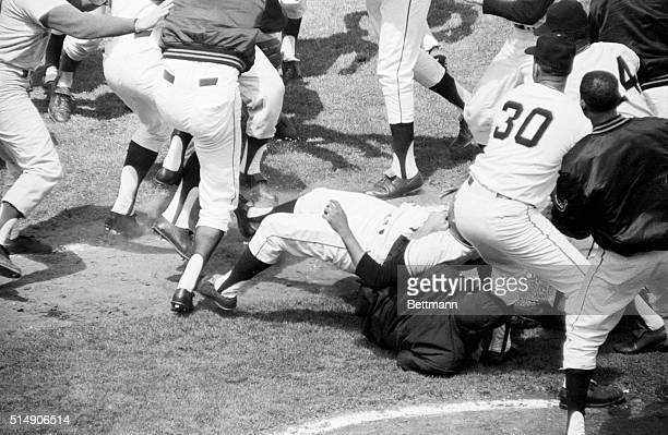 8/22/1965San Francisco CA Dodger catcher John Roseboro suffered a cut on top of his head during a bat swing fight with San Francisco Giant pitcher...
