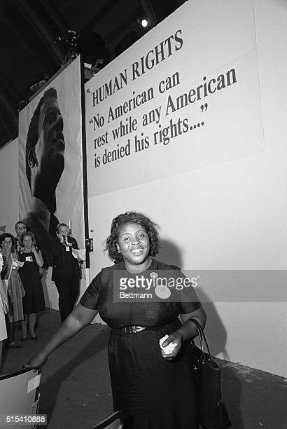 8/25/1964Atlantic City NJ Convention Hall Mrs Fannie Hamer member of the Mississippi Freedom Democratic Party was one of the exciting highlights of...