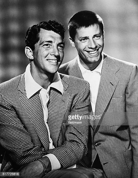 8/27/1954CaperCutters Dean Martin and Jerry Lewis open the fall series of the 'Colgate Comedy Hour' on Sept 19 with theur merrymad antics This is...