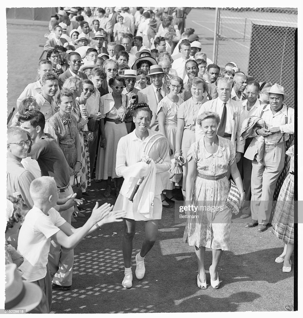 Tennis Pros Althea Gibson and Alice Marble