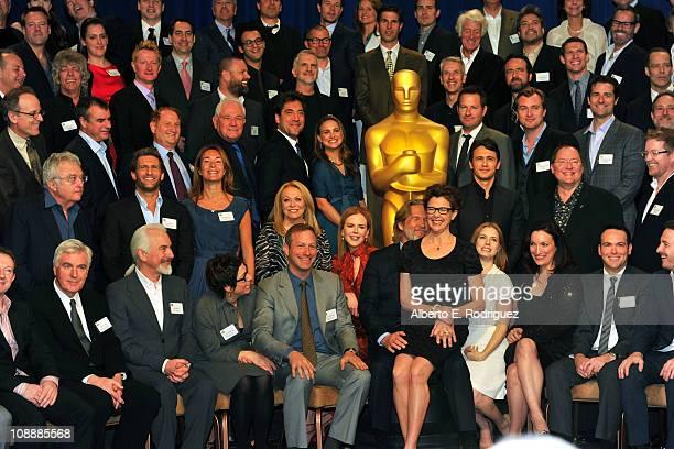 83rd Academy Awards class photo at the 83rd Academy Awards nominations luncheon held at the Beverly Hilton Hotel on February 7 2011 in Beverly Hills...