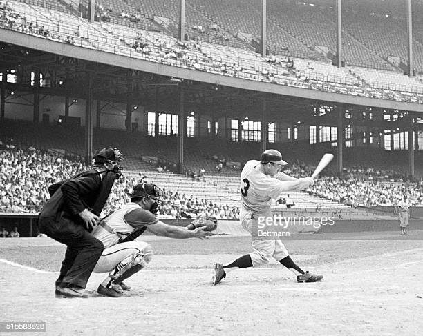 8/7/1964Cleveland OH Harmon Killebrew Minnesota Twins' slugging outfielder found it rough going in the first game of a twin bill here against...