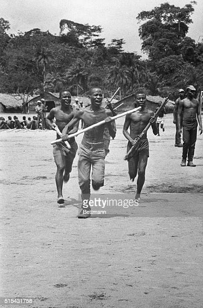 8/7/1968Biafra Africa This is military training Biafran style These recruits go through the paces somewhere in Biafra Nigerian spokesmen have been...