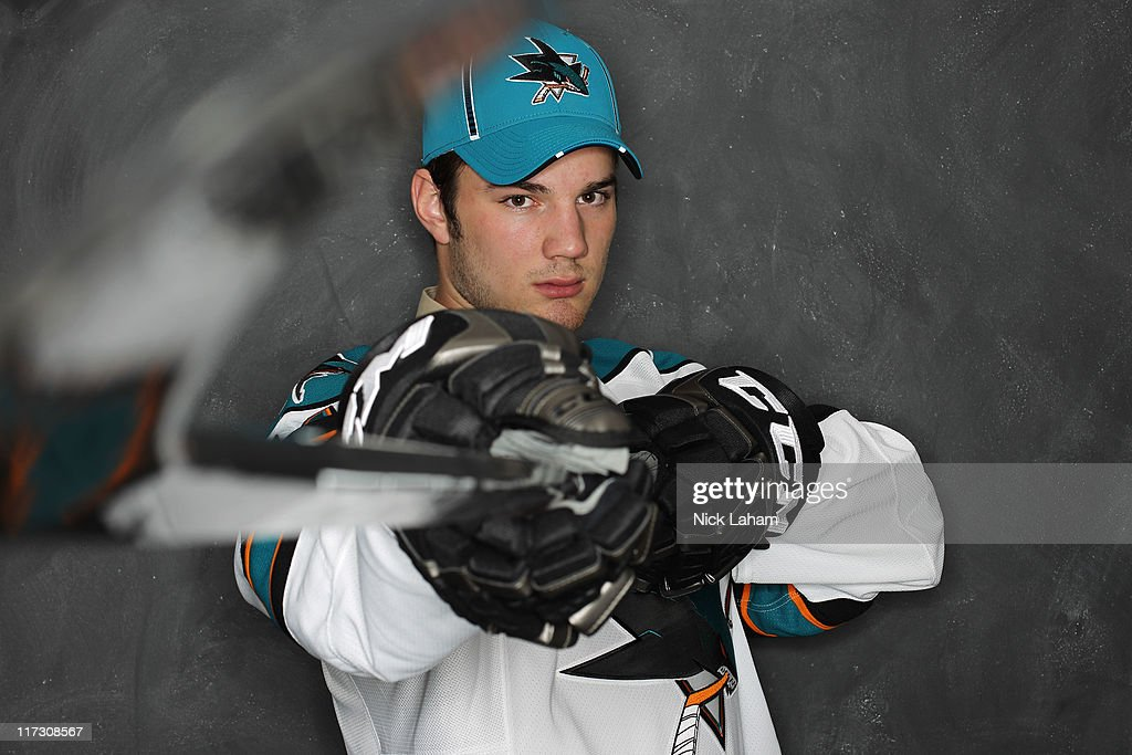89th overall pick Justin Sefton by the San Jose Sharks poses for a portrait during day two of the 2011 NHL Entry Draft at Xcel Energy Center on June 25, 2011 in St Paul, Minnesota.