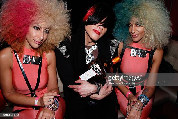 8bit and the Cary NoKey girls attend STYLE360's 10th Anniversary Opening Party hosted by Carmen Electra at Level R on September 8 2014 in New York...