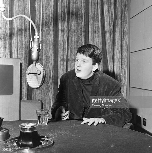 The British composer Oliver Knussen records a programme at the BBC Studios at the young age of 16