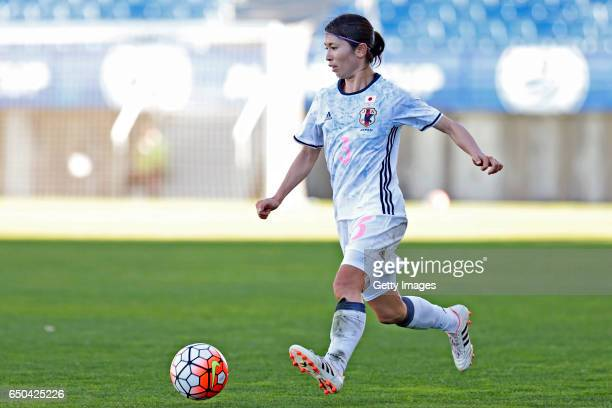 Aya Sameshima of Japan Women during the match between Japan v Netherlands Women's Algarve Cup on March 8th 2017 in Loulé Portugal