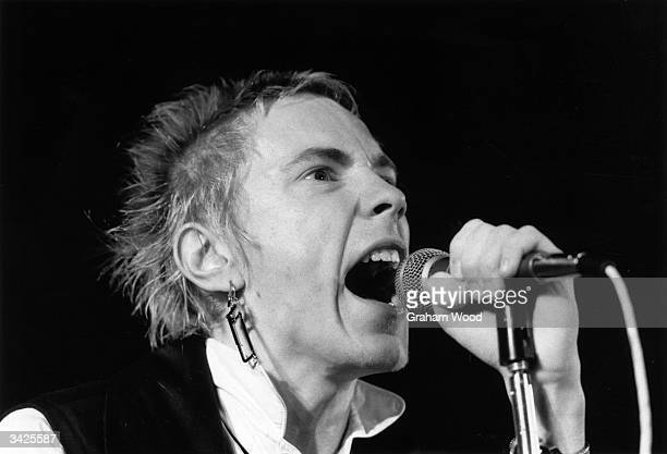 Johnny Rotten British singer with punk group The Sex Pistols