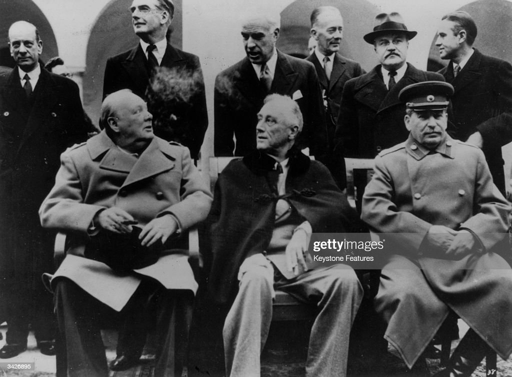 the three big people who led the yalta treaty The big three meet - churchill, stalin and roosevelt -at the yalta conference 1945 the three the three heads of state of the usa, russia and great britian meet to discuss the reorginisation of post-war europe show some respect you drums- these three men did what was needed to end the war-.