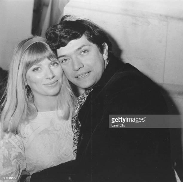 Actor Martin Shaw with his bride Jill Allen