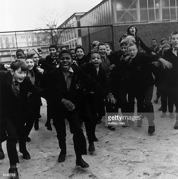 Pupils at Rutherford Secondary School in London