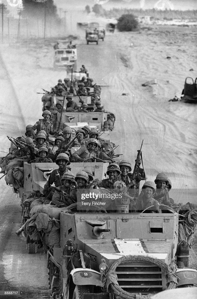 A victorious Israeli convoy in Egypt during the SixDay War
