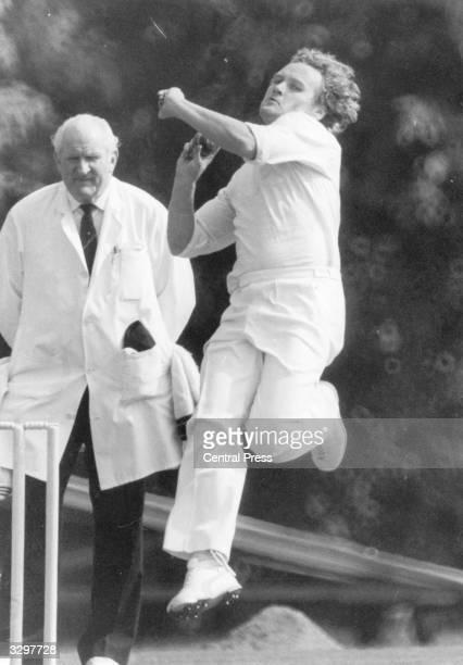 Australian bowler Rodney Hogg in action