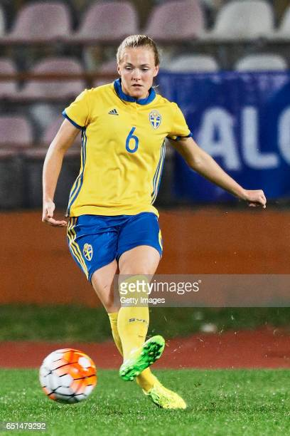 Magdalena Eriksson of Sweden Women during the match between Sweden v Russia Women's Algarve Cup on March 8th 2017 in Albufeira Portugal
