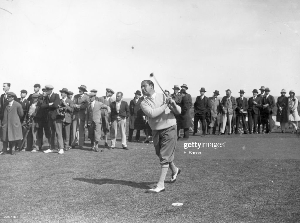 American golfer Walter Hagen winner of the USPGA and Ryder Cup Captain during the Open Golf Campionships at Sandwich