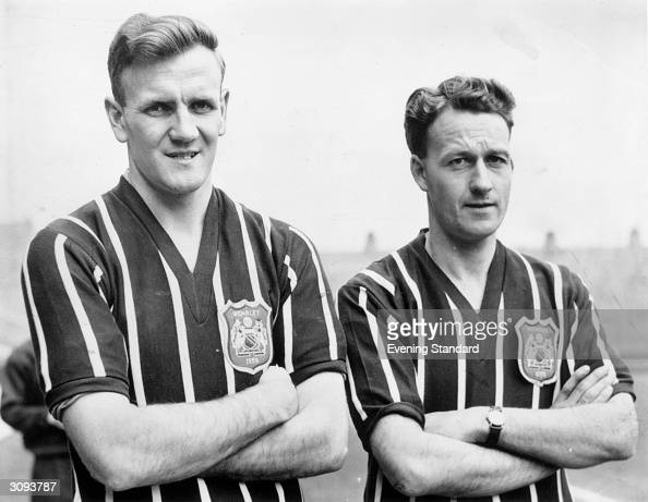 Manchester City Football Club player Don Revie with a team mate
