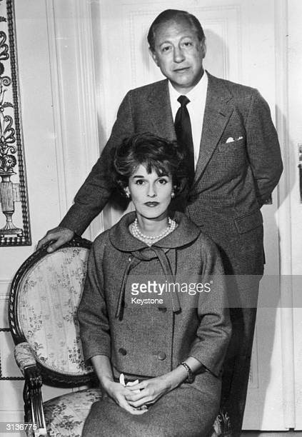 William Paley the chairman of American broadcasters CBS with his wife Babe in Denmark