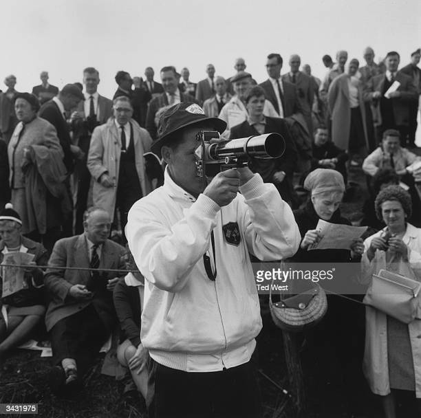 Byron Nelson captain of the US Ryder Cup team taking photographs at Royal Birkdale Southport