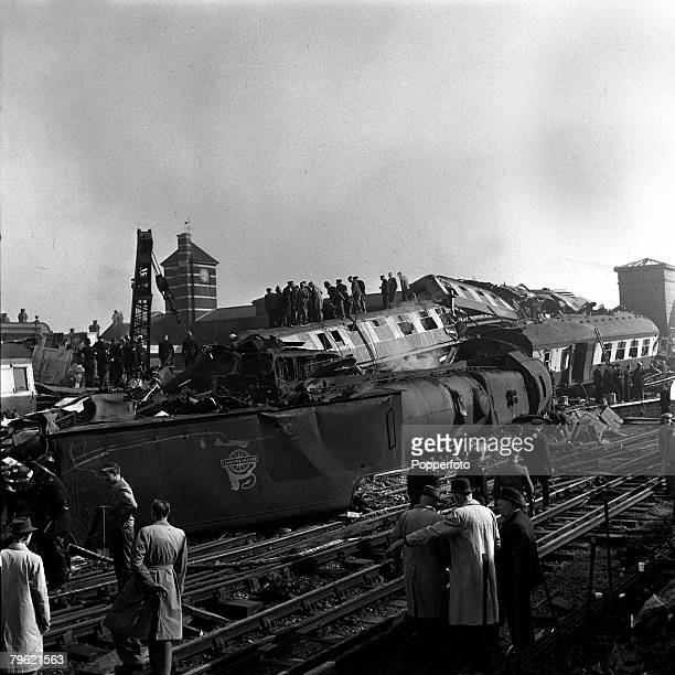 8th October Harrow and Wealdstone rail crashEmergency services rescue people trapped in the tangled wreckage 111 people were killed and over 150...
