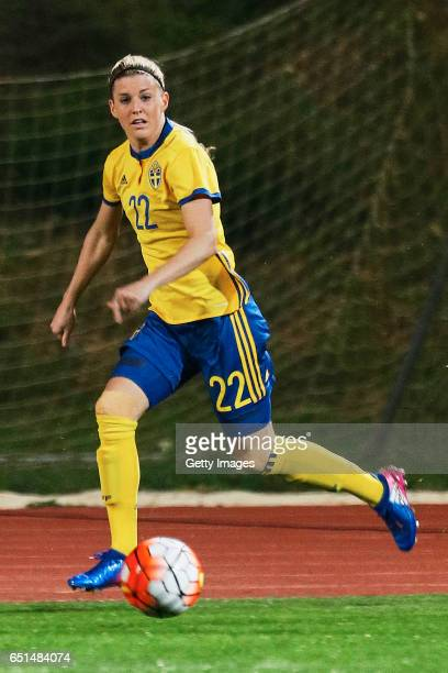 Olivia Schough of Sweden Women during the match between Sweden v Russia Women's Algarve Cup on March 8th 2017 in Albufeira Portugal