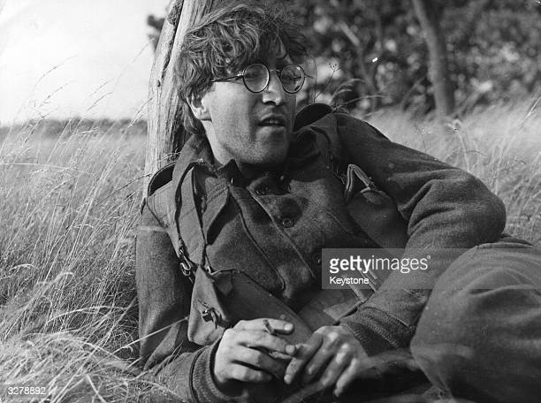 Pop star John Lennon takes time out from The Beatles to play a young soldier Private Gripweed in Richard Lester's film 'How I Won the War' which is...