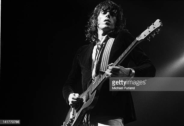 Guitarist Keith Richards of the Rolling Stones performs on stage at Wembley Empire Pool London 8th September 1973