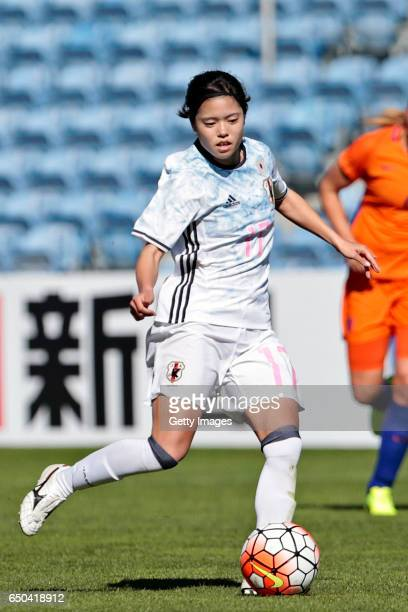 Yui Hasegawa of Japan Women during the match between Japan v Netherlands Women's Algarve Cup on March 8th 2017 in Loulé Portugal