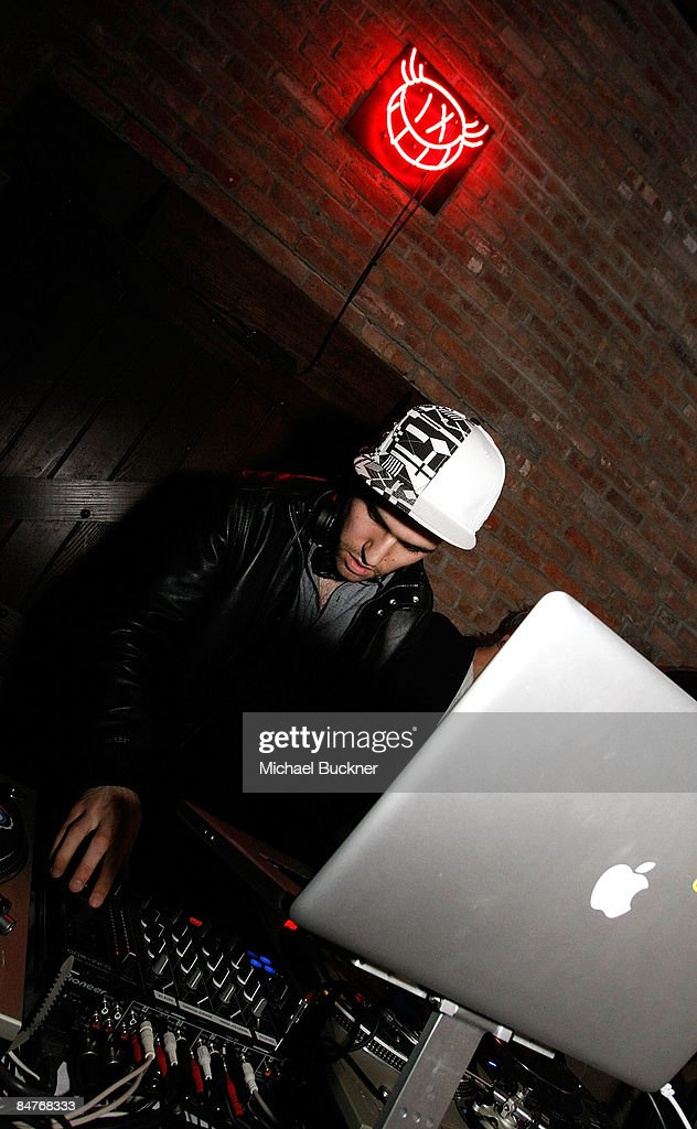 Track performs at the Belvedere IX Launch Party at The Bowery Hotel on February 12, 2009 in New York City.