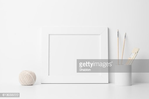 8x10 Frame Mock-Up - Landscape : Foto de stock