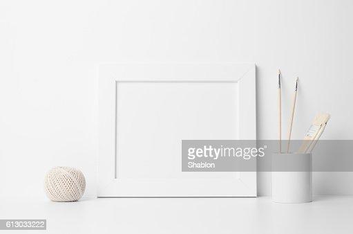 8x10 Frame Mock-Up - Landscape : Stock Photo