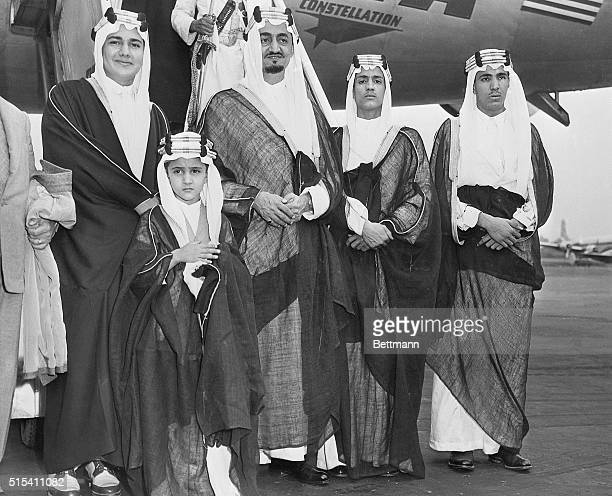 9/10/1947New York NYFour sons and a grandson of King Ibn Saud of Saudi Arabia arrive at LaGuardia Field Sept 9 with their country's delegation to the...