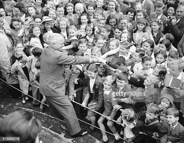 9/11/1947Rio de Janeiro Brazil If the kids had any voting power President Harry Truman would win his reelection by a juvenile landslide Truman's...