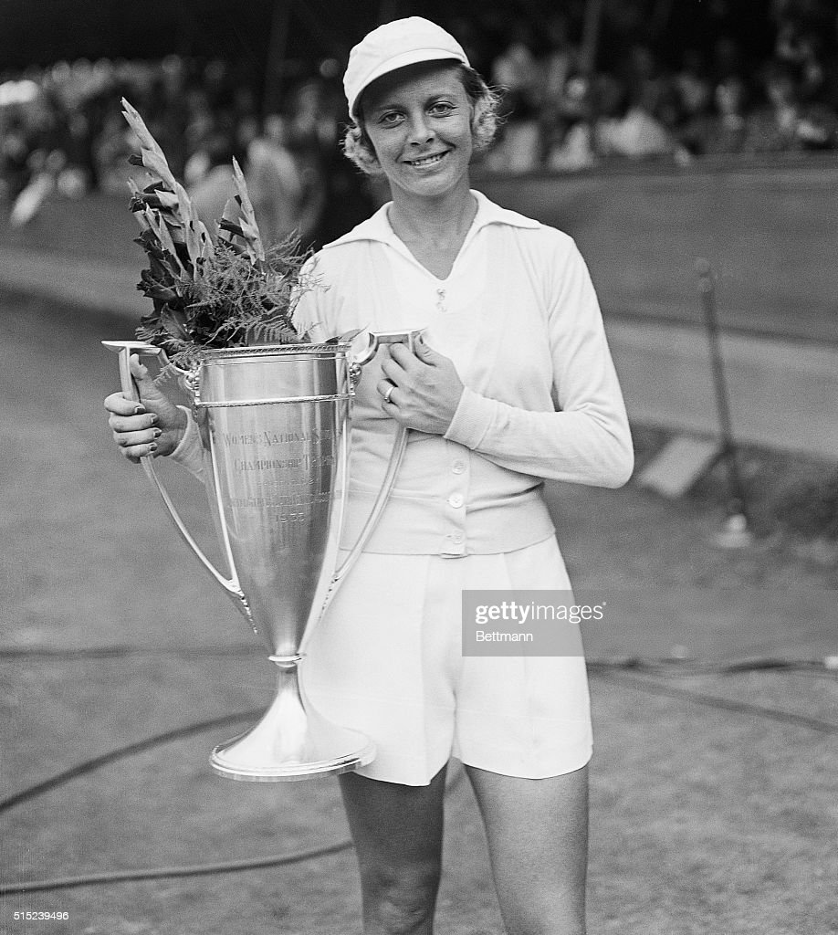 Alice Marble Shown with Champion Cup