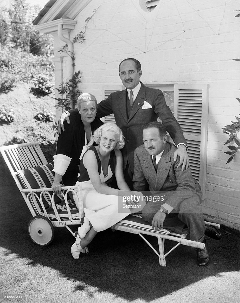 9/19/1933Los Angeles CA A few hours after the ceremony that united her to Harold G Rosson Hollywood 'Ace' film photographer Jean Harlow original...