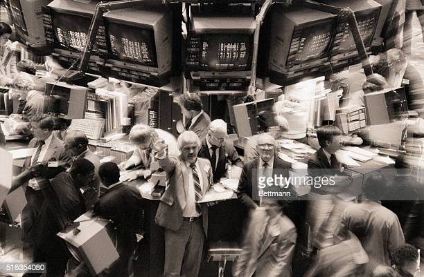 9/22/1982New York NY The New York Stock Exchange was a busy place again 9/22 experiencing its fifth busiest day on record It lost ground in heavy...